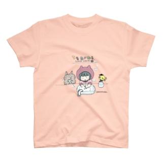 ほっかむねこ屋の手を洗おう T-shirts