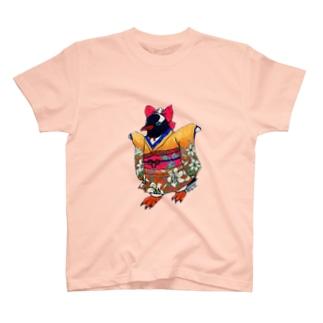 着物ぺんぎん―ジェンツーの歩く(走る)姿は百合の花— T-shirts