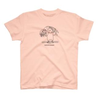 カイヌシとじゃれ合うインコさん(アルゼンチンバックブリーカー) T-shirts