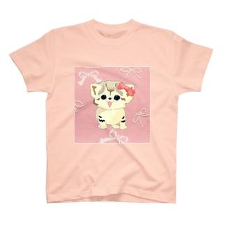 お座りスナネコ らいちちゃん🎀 T-shirts