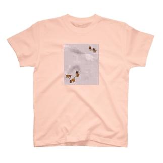 ルーナ♪チェック T-shirts