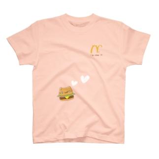 メシネコ@ハンバーガー T-shirts