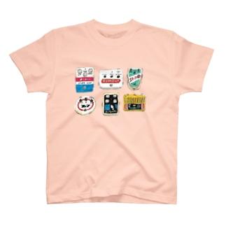 レトロ看板風エフェクター T-shirts