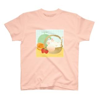 ねこのかごももちゃん T-shirts