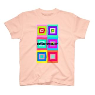 color square T-shirts