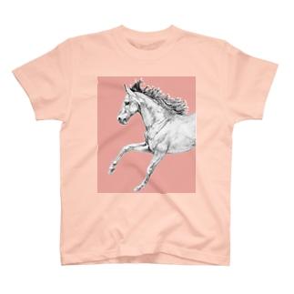 馬の絵の画家 斉藤いつみの馬の素描Tシャツ10 T-shirts