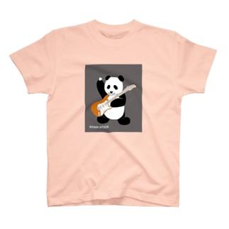 エレキギターを弾くパンダ♪  T-shirts