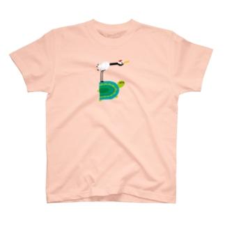 えんぎものすうじ 5 つるとかめ T-shirts