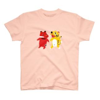 TOYTOY<赤べこと張り子の虎> T-shirts