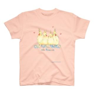 仲良しオカメちゃん T-shirts
