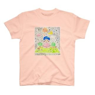 そらとぶヨガマット T-shirts