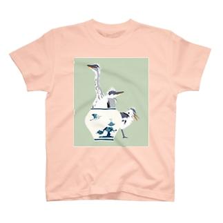 アオサギの雛たち T-Shirt