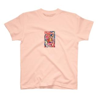 弥勒❤️LOVE レター護符👺烏天狗  T-Shirt