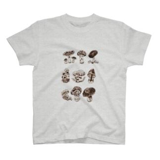 Natural history #1  Mushrooms T-shirts
