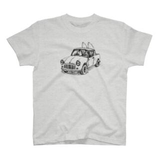 『ピックアップで出掛けるよ』 T-shirts