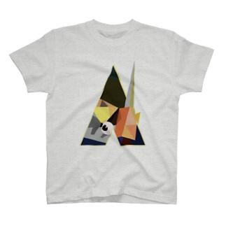 時計仕掛けのポリゴン T-shirts