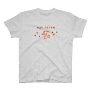 花粉症、Hay Fever、マスクのクマさん T-shirts