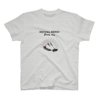 MECCHA NEMUI 文鳥 T-shirts