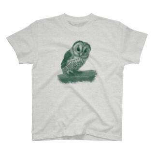 フクロウの巣立ちびな(寄付) T-shirts