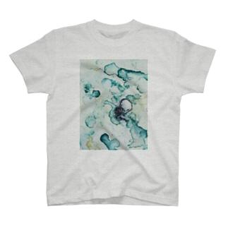 緑の骨 T-shirts