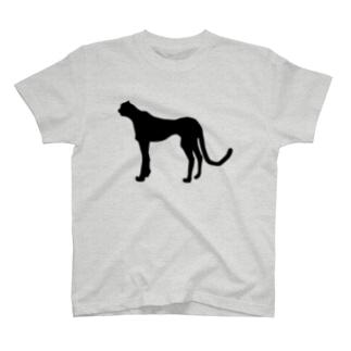 チーター _BLACK T-shirts