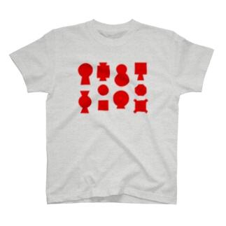 古墳(赤) T-shirts