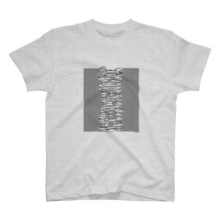 束波 / たばなみ (黒,縦) T-shirts