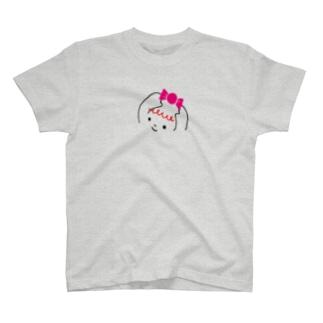 ふわふわ色emiのハッピーちゃん T-shirts