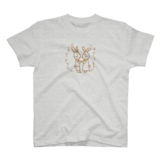 うさぎの夫婦 T-shirts