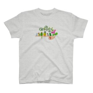 手乗りインコさん♡ T-shirts