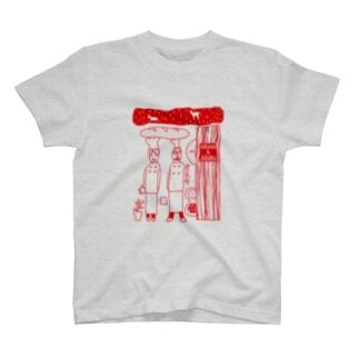 パン屋うずらとあずきさん T-shirts