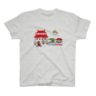 旅するゆめねこ中華風 T-shirts