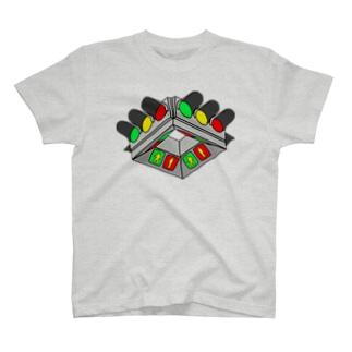 (拡大版)UFO型信号機 T-shirts
