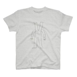 上半身が下半身の男 T-shirts