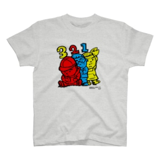 TOMMY★☆ZAWA ILLUSTRATIONの3 Bros. Colored (三兄弟。3色。) T-shirts