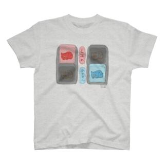 信号機×ネコ(こんどう) T-shirts