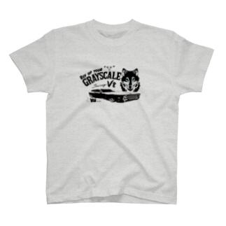 PoooompadoooourのGRAY SCALE Journey V8(Black and white2) T-shirts