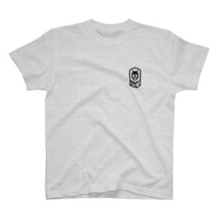 PoooompadoooourのGRAY SCALE エンブレム T-shirts
