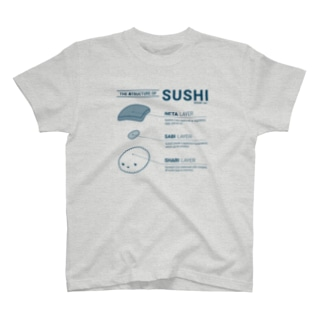 THE 寿TRUCTURE OF SUSHI - monocolor T-Shirt