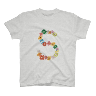 flowerアルファベットS T-Shirt