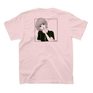 優柔不断 モノクロ バックプリント T-Shirt
