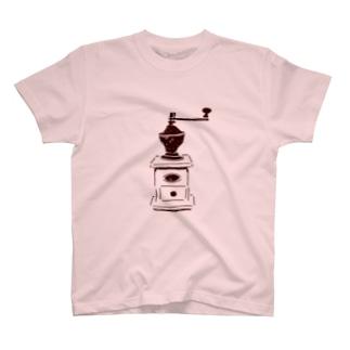 喫茶店マスター専用デザイン「コーヒーミル」 T-Shirt