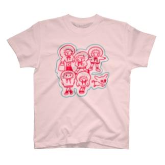 パーカー軍団+チワワ T-shirts