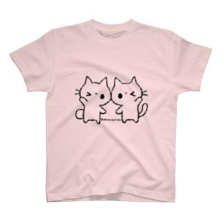 シンプルしろねこ T-shirts