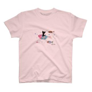 ミニとおさかな T-shirts