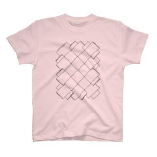 編んだ紙紐 T-shirts