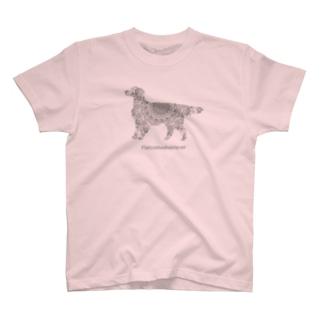 花月 フラットコーテッドレトリバー T-shirts
