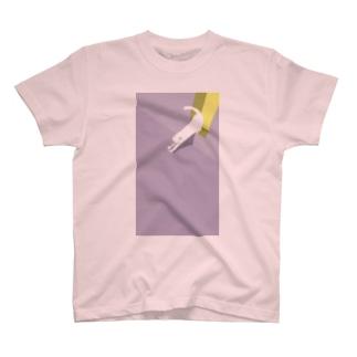 【イラスト】駐輪場の白猫 T-shirts