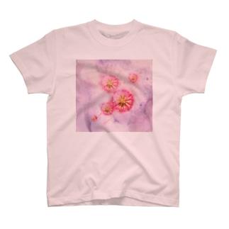 あたたかな時 桃 T-shirts
