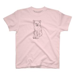 ZAZEN白秋田犬 T-shirts